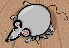 Mouse mother with babies cartoon Stock Photography