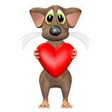 Mouse nell'amore Fotografia Stock Libera da Diritti
