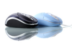Mouse ottico blu Fotografia Stock Libera da Diritti