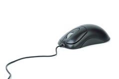 Mouse ottico nero alla moda del calcolatore Immagine Stock