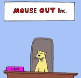 Mouse Out Inc Stock Photo