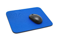 Mouse pad. Isolated on white Stock Photography