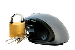 Mouse and Padlock Royalty Free Stock Photography