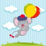 Mouse in palloni Fotografie Stock Libere da Diritti