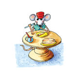 Mouse - pancakes Royalty Free Stock Images