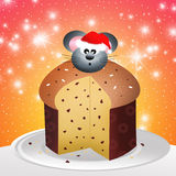 Mouse of panettone Stock Photography