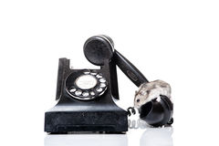 Mouse phoning. Mouse speaking on the phone royalty free stock images