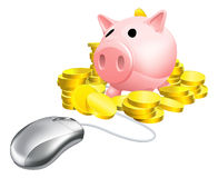 Mouse Piggy bank concept Stock Photo