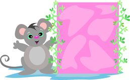 Mouse with Pink Box Royalty Free Stock Image