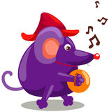 Mouse playing cymbals Royalty Free Stock Photos