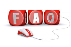 Mouse plug in frequently asked questions dices Royalty Free Stock Images