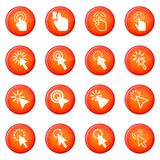Mouse pointer icons vector set Royalty Free Stock Images