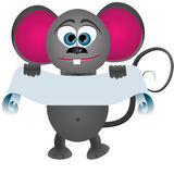 Mouse with poster Stock Image