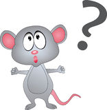 Mouse with a question mark Stock Photography