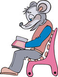 Mouse reader cartoon Royalty Free Stock Photos