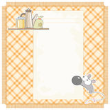 Mouse recipes. Vector cards for food recipes illustrated funny mice Royalty Free Stock Image