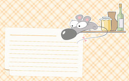 Mouse recipes. Vector cards for food recipes illustrated funny mice Stock Photos