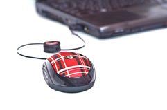 Mouse rosso del calcolatore Immagini Stock