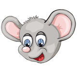 Mouse`s head. Cartoon style.  Clip art for children. Royalty Free Stock Image