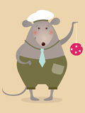 Mouse sailor with boll. Illustration for greeting card Royalty Free Stock Photos