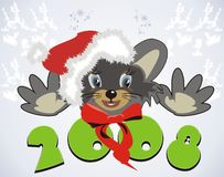 Mouse. Santa 2008. Mouse. Santa. 2008 year. Vector Royalty Free Stock Photography