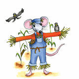 Mouse scarecrow Royalty Free Stock Image