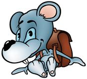 Mouse Schoolboy. Colored cartoon illustration as vector Royalty Free Stock Image