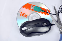 Mouse with scisoors. Image of mouse with scissors Stock Photography