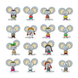 Mouse set Royalty Free Stock Images