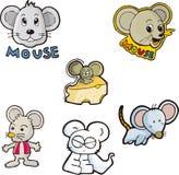 Mouse set seven Royalty Free Stock Photos
