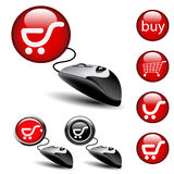 Mouse shopping pointers Stock Images