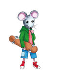 Mouse - skateboard Stock Image