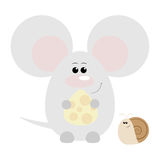 Mouse and Snail Happy Stock Image