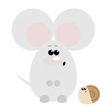 Mouse and Snail Surprised. Funny cartoon surprised mouse and his snail friend Stock Photography