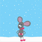 Mouse on the snow Royalty Free Stock Photography