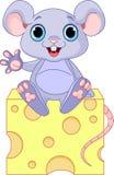 Mouse su formaggio Fotografia Stock Libera da Diritti