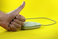 Mouse success Stock Photo