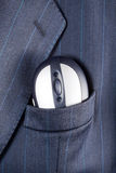 Mouse in suit pocket Stock Photo