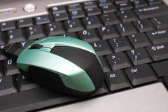 Mouse sulla tastiera Fotografia Stock Libera da Diritti