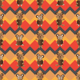 Mouse symmetry style seamless pattern Royalty Free Stock Photo