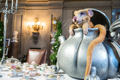 Mouse in a tea pot Alice in wonderland Stock Photo