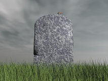 Mouse on tombstone - 3D render Royalty Free Stock Photo