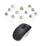 Mouse tools network illustration Stock Photo