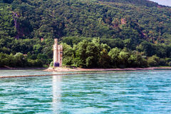 The Mouse Tower Mauseturm in the Rhine river near Bingen Royalty Free Stock Photography