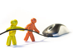Mouse towing Stock Images