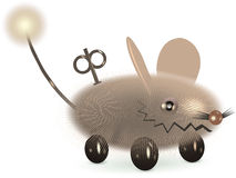 Mouse toy. The cybernetic mouse. Vector image vector illustration