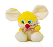 Mouse toy on white background Stock Images