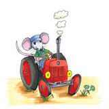 Mouse - tractor Royalty Free Stock Photography