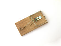 Mouse Trap. On a white back ground Stock Photos