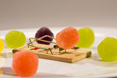 Mouse trap. Concept series: mouse trap with sweet jelly candy Stock Photos